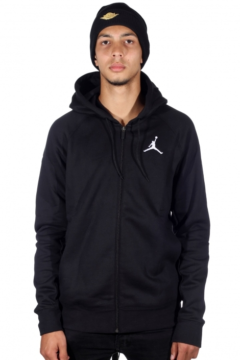 Толстовка Nike Jordan Flight Fleece black/white